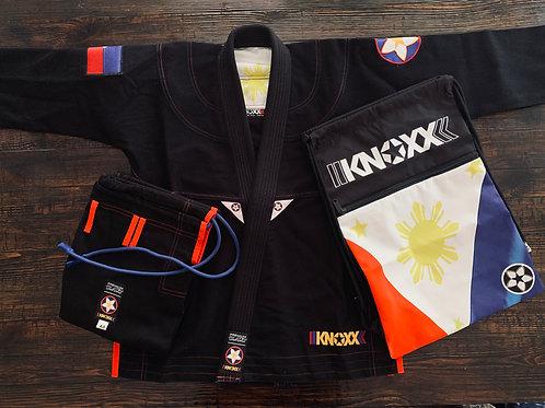 "KNOXX Women Jiu Jitsu ""Heritage Series - Phillipines"" Black G"