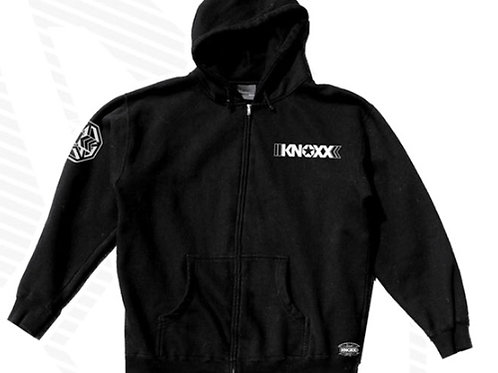 "KNOXX Zipper Hoodie ""Mono"" Chest Logo"