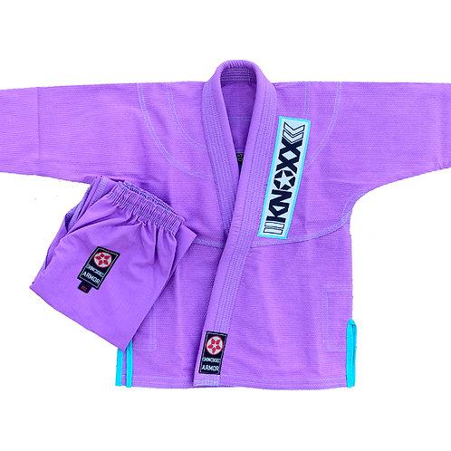 "KNOXX Youth Jiu Jitsu ""Kusari V2"" Lavender/Turquoise Gi"