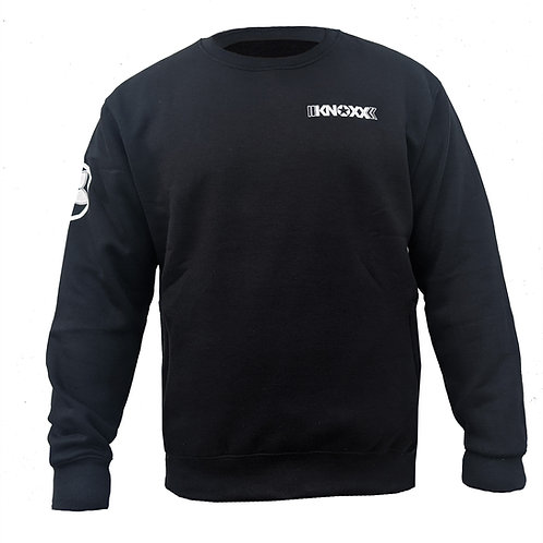 KNOXX Crewneck Middleweight fleece with zipper side pockets-Black