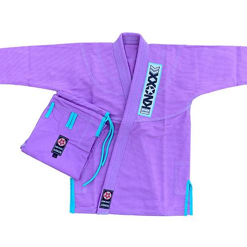 "KNOXX Women Jiu Jitsu ""Kusari V2"" Lavender/Turquoise  Gi"