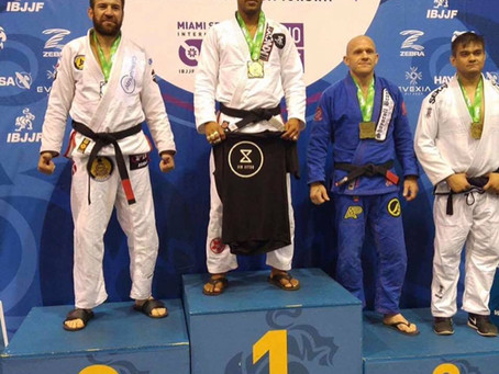 Congrats to Jorge Santiago of Xcell Jiu Jitsu @xcelljiujitsu for taking Gold at Miami Spring Open Ji