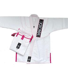 """KNOXX Women Jiu Jitsu """"Kusari V2"""" White/Pink  Gi"""