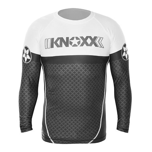 "KNOXX Rank ""Links"" Rashguard - White"