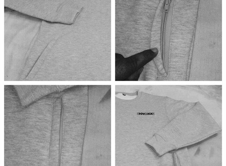 A peek at whats coming in the Fall from KNOXX. Crewneck sweater with hidden zipper pockets