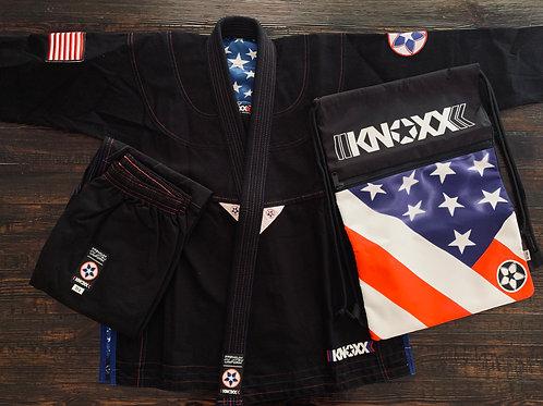 """KNOXX Youth Jiu Jitsu """"Heritage Series - USA"""" Black G"""