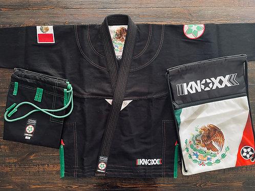 """KNOXX Jiu Jitsu """"Heritage Series- Mexico"""" Black Gi"""