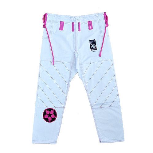 "KNOXX Women Jiu Jitsu ""Kusari V2"" PANTS ONLY- White/Pink  Gi"