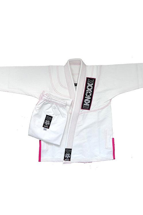"""KNOXX Youth Jiu Jitsu """"Kusari V2"""" White/Pink Gi"""