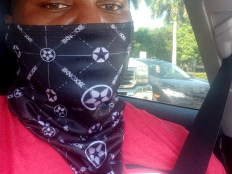 Anthony Johnson in the KNOXX Gaitor