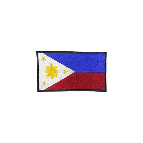 Phillipines Embroidered Patch -Black Border