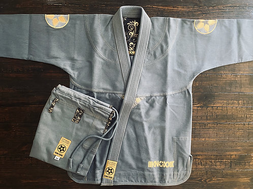 "KNOXX Women Jiu Jitsu ""Quest For Gold-V2"" Gray Gi"