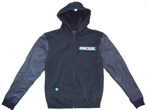 KNOXX Contrast Sleeve Zipper Hoodie
