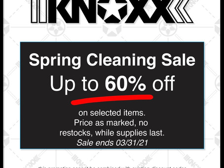 KNOXX Spring Cleaning Sale - Up to 60% Off