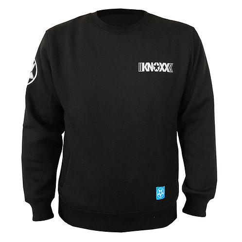 KNOXX Crewneck fleece with zipper side pockets- Black