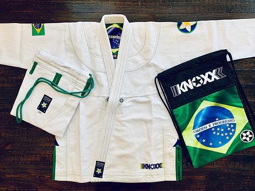 "KNOXX Jiu Jitsu ""Heritage Series- Brazil"" White Gi"