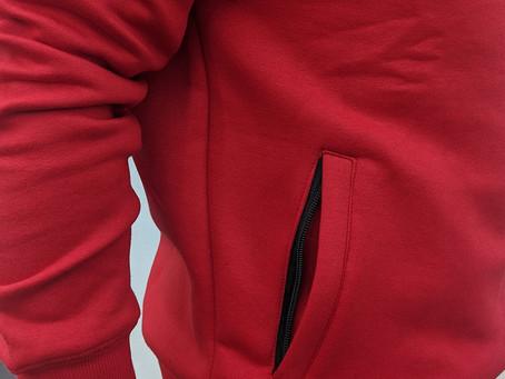 Our popular crew necksweatshirt with hidden zipper pockets are back!