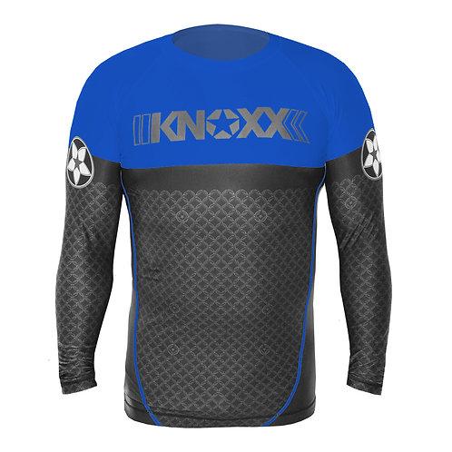 "KNOXX Rank ""Links"" Rashguard - Blue"