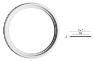 ASR001 L 54,5 x H 2,4 x l 54,5 cm