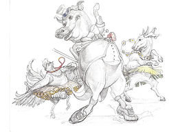 Artwork specifically created for the Dancing Pig song by Duke Otherwise