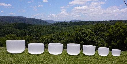Medium Set: Frosted Crystal Bowls