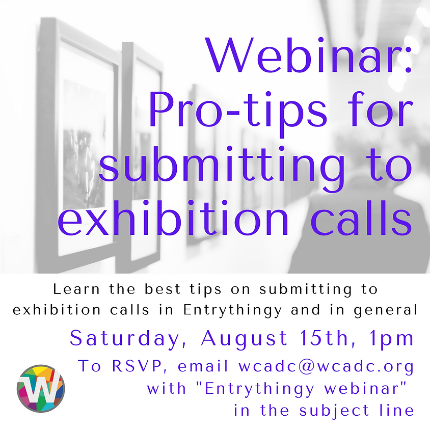 Webinar: Pro-tips for submitting to exhibition calls