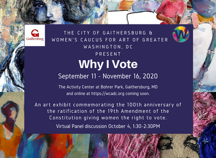 Exhibitions: Why I Vote in person and online Sept 11