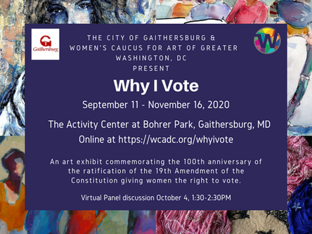 """Why I Vote"" Exhibit and Panel Discussion"
