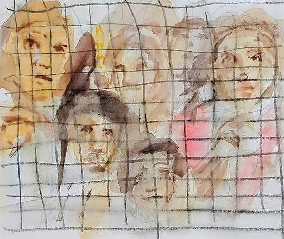 Children in Cages by Ellen Maidman-Tanner