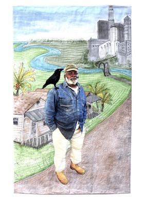 1st Place: Mr. Jim Crow on my Shoulder by Bonnie Askowitz