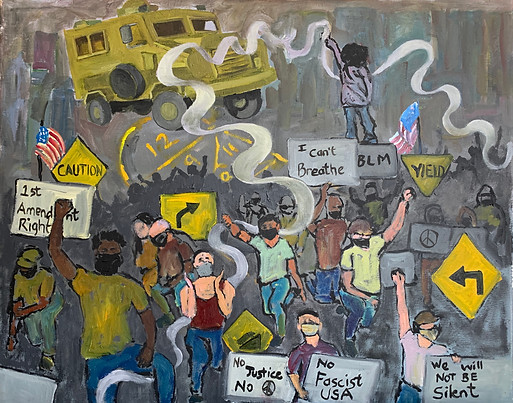 A Memory from Apartheid South Africa 1976, a belief in Democracy and First Amendment Rights 2020 by Yolanda Prinsloo