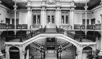 art deco escalier