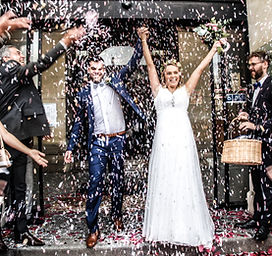 confettis couple mariage