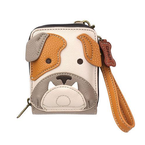 Chala - Cute-C Credit Card Holder Wristlet - Bull Dog