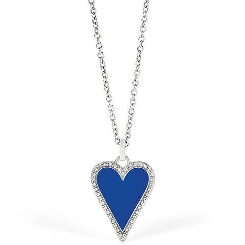 Brighton - Dazzling Love Blue Heart Necklace