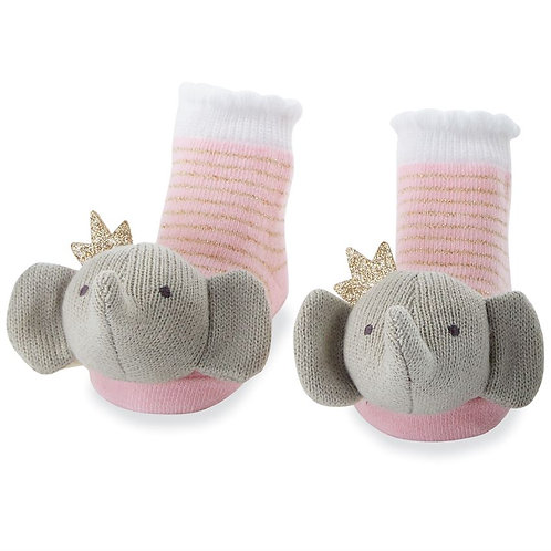 Mud Pie - Crowned Elephant Rattle Toes