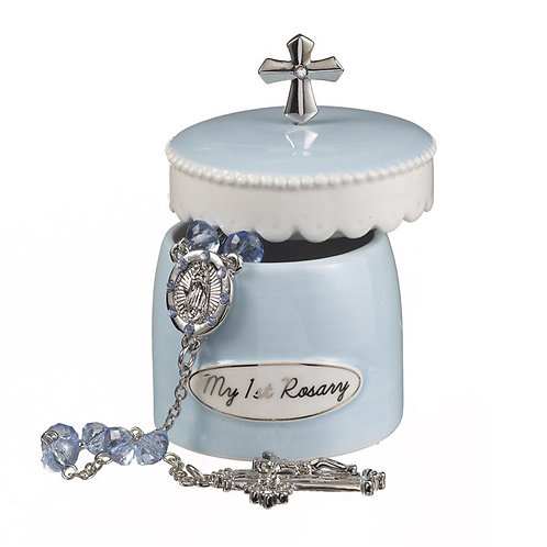 My 1st Rosary with Keepsake Box – Blue