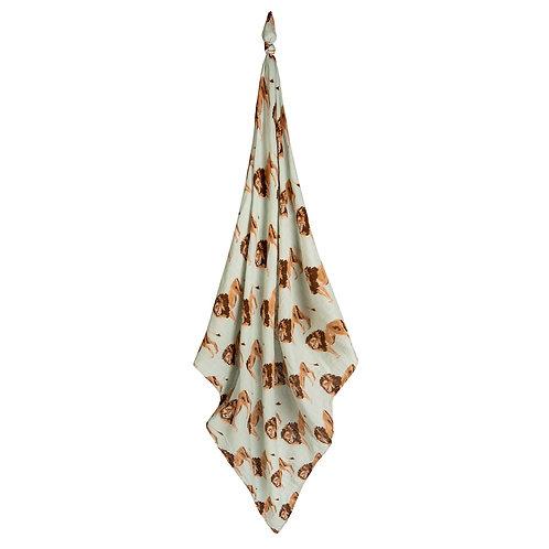 Milkbarn - Lion Bamboo Muslin Swaddle Blanket