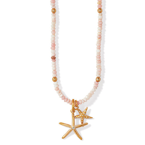 Brighton - Paradise Cove Pink Opal Shell Necklace
