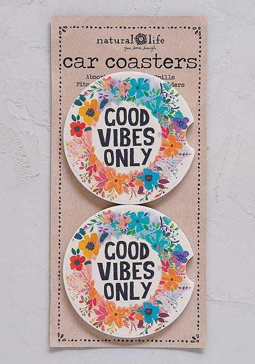 Good Vibes - Car Coasters