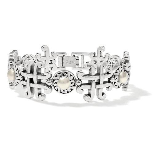 Brighton - Taos Pearl Cross Link Bracelet