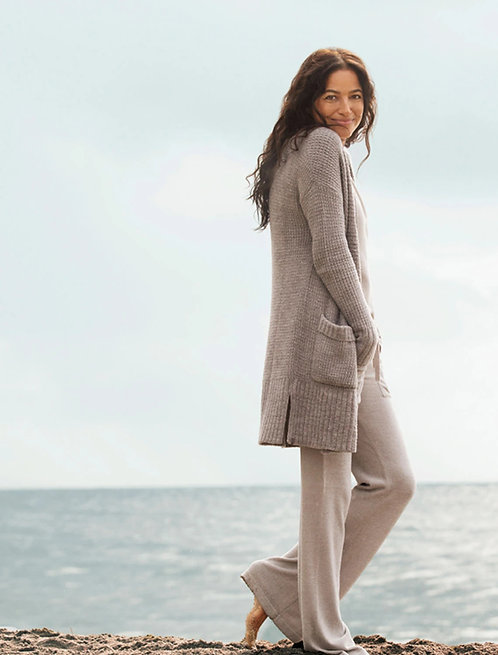 CozyChic Lite Long Weekend Cardi - Heathered Pewter / Silver
