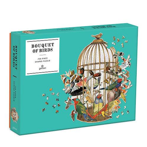Bouquet of Birds 750 Piece Shaped Jigsaw Puzzle