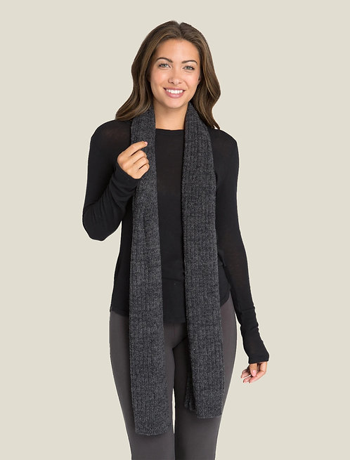 Cozychic Lite Ribbed Scarf - Heathered Carbon / Black
