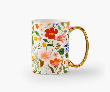 Rifle Paper - Porcelain Mug Strawberry Fields