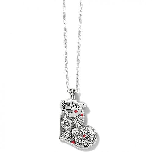 Brighton -  Give Love Peace Necklace