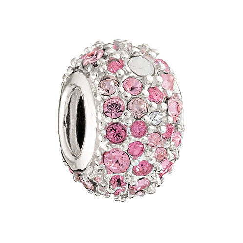 Jeweled Kaleidoscope Pink Charm