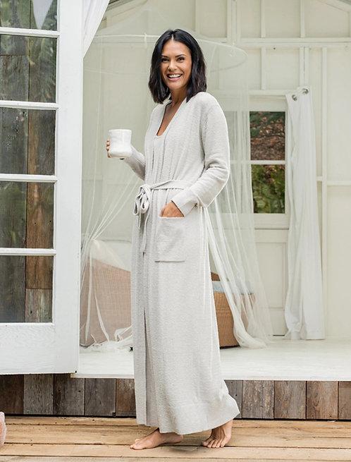 CozyChic LiteWomen's Long Robe - Silver