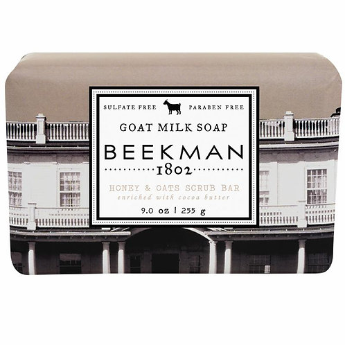 Honey & Oats Scrub Bar Goat Milk Soap