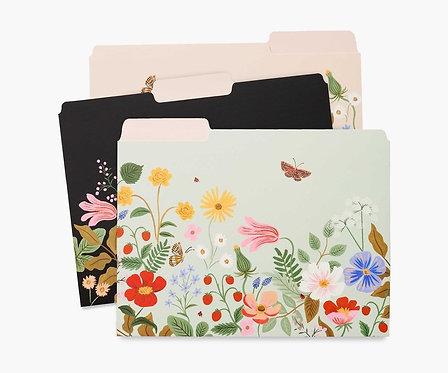 Rifle Paper - Assorted File Folders Strawberry Fields